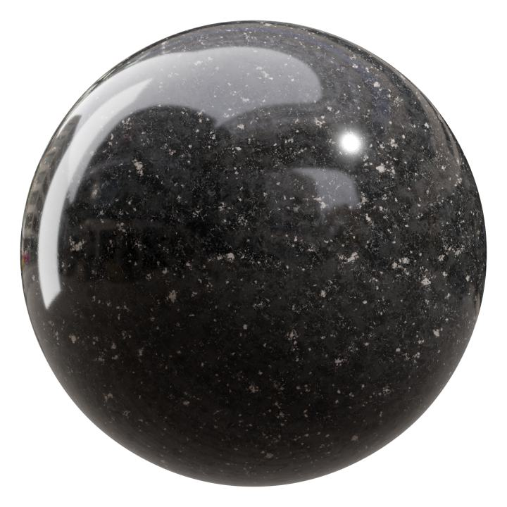 preview render of the free PBR material Granite 07 small (cc0 texture)