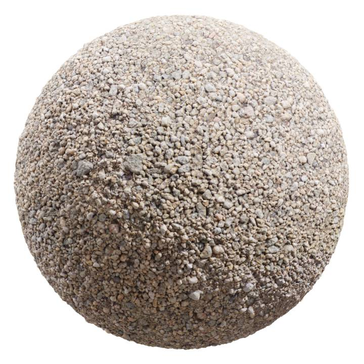 Preview render of the PBR texture Gravel 02