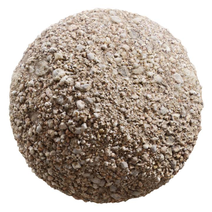 Preview render of the PBR texture Gravel 03