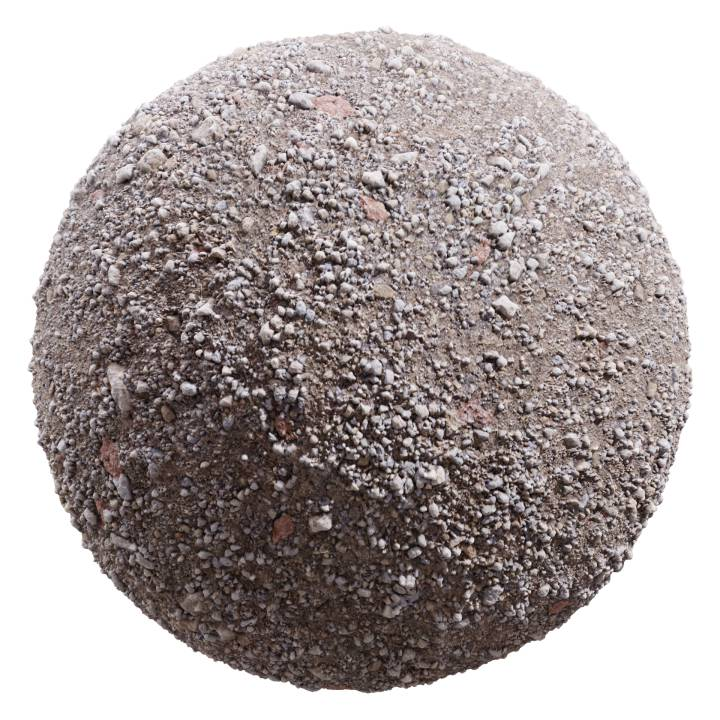 Preview render of the PBR texture Gravel 04