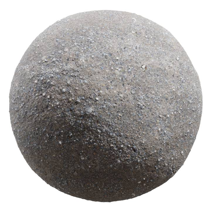Preview render of the PBR texture Gravel 06