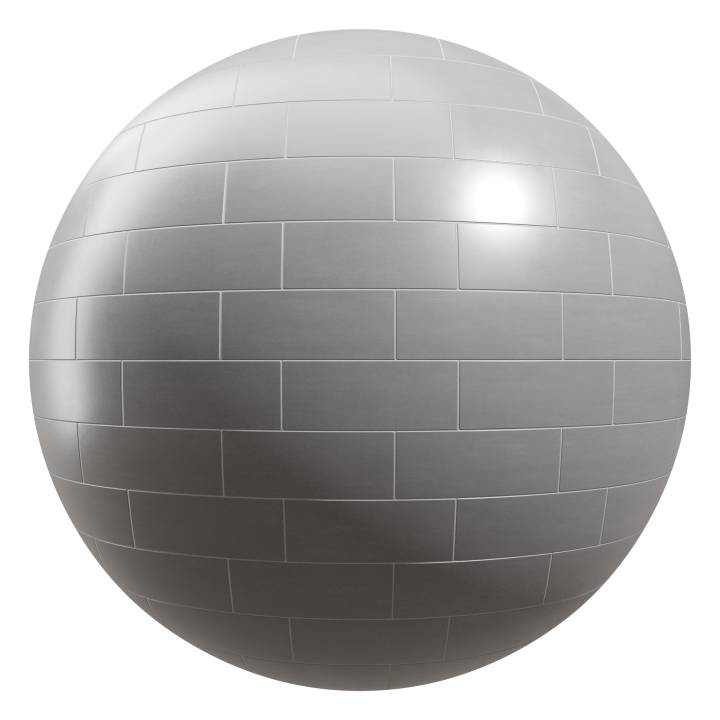 Preview render of the PBR texture Grey Matte Tiles 01
