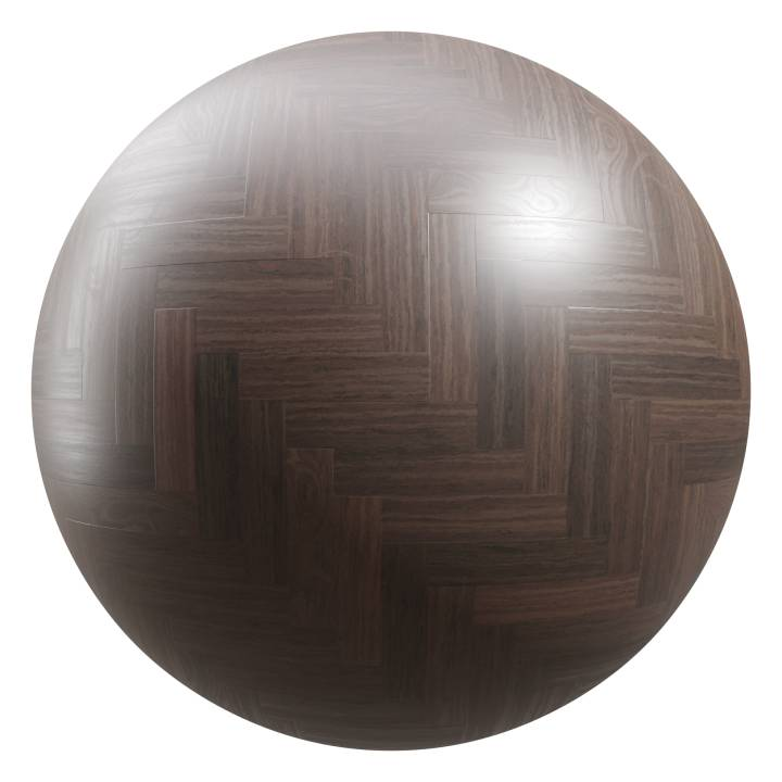 Preview render of the PBR texture Herringbone Parquet Flooring 01