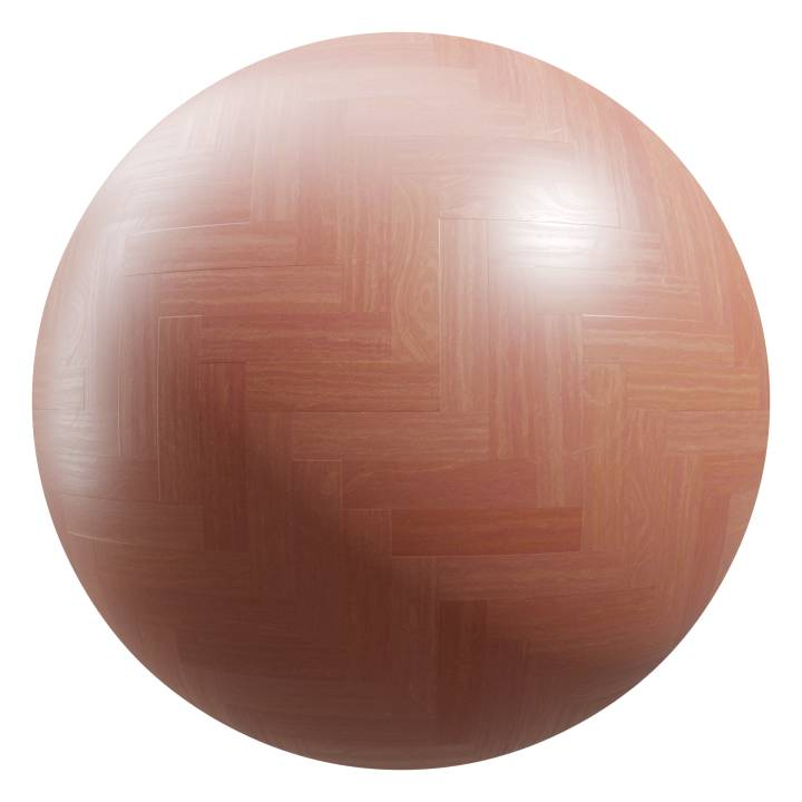 Preview render of the PBR texture Herringbone Parquet Flooring 04