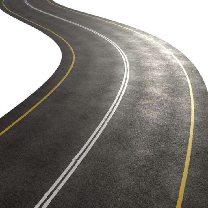 Preview render of the PBR texture Highway Road Clean 01