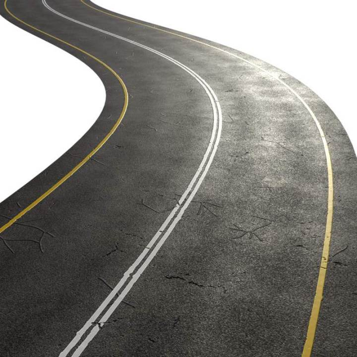 Preview render of the PBR texture Highway Road Cracks 01
