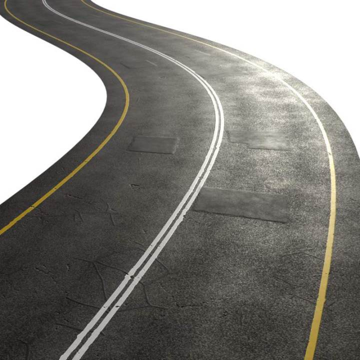 Preview render of the PBR texture Highway Road Patches 01