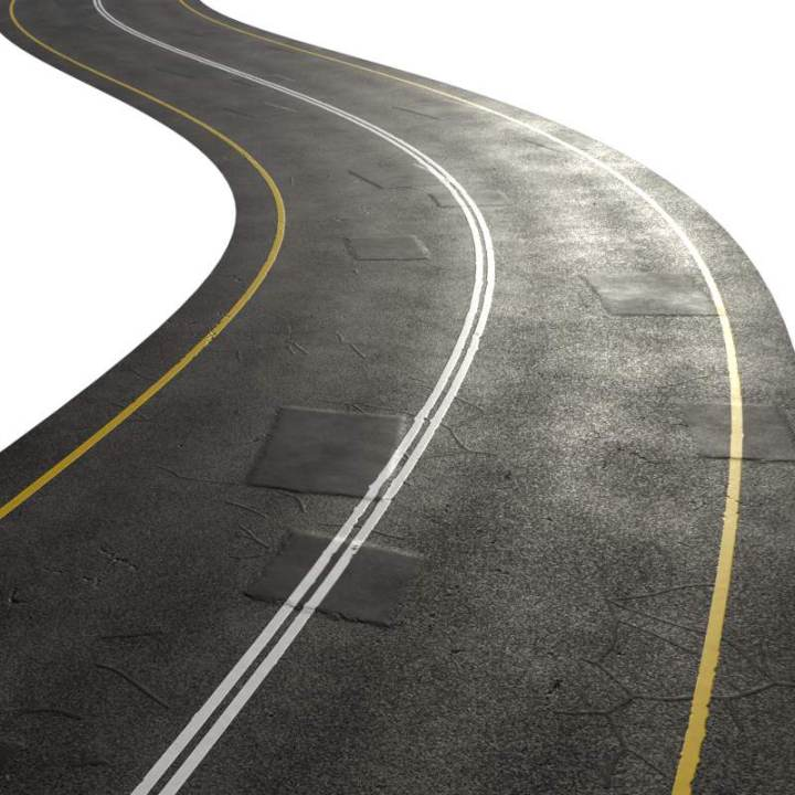 Preview render of the PBR texture Highway Road Patches 02