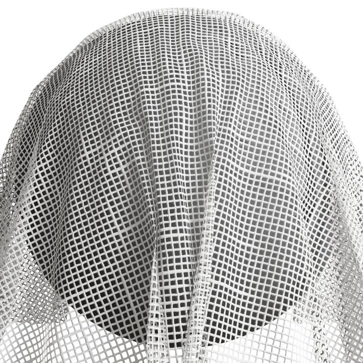 Preview render of the PBR texture Net Curtain 01 small