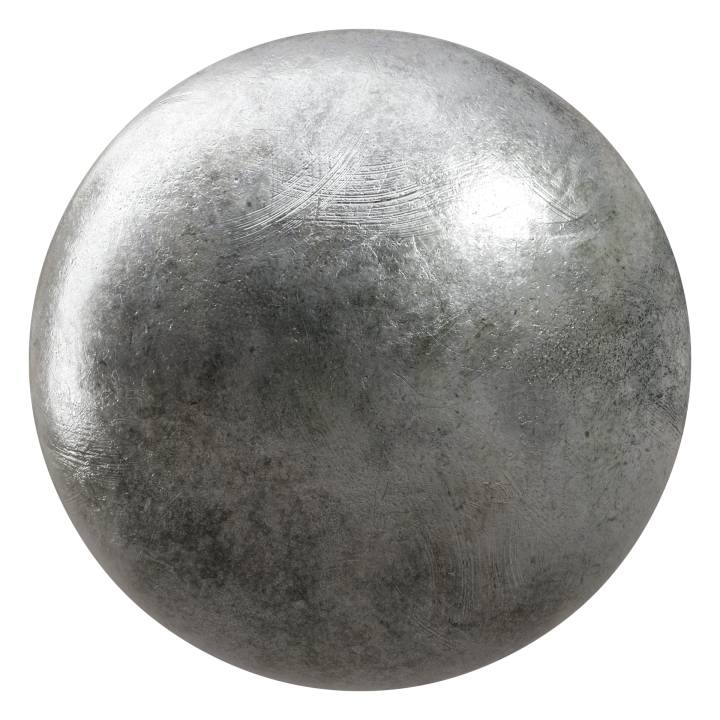 Preview render of the PBR texture Old Iron 01