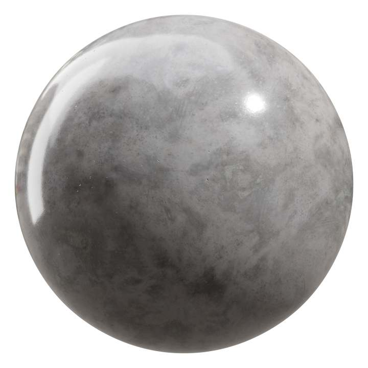 Preview render of the PBR texture Polished Concrete 01