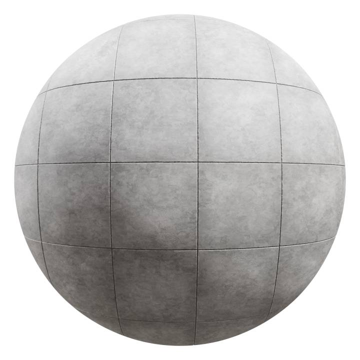 Preview render of the PBR texture Stone Tiles Floor 01