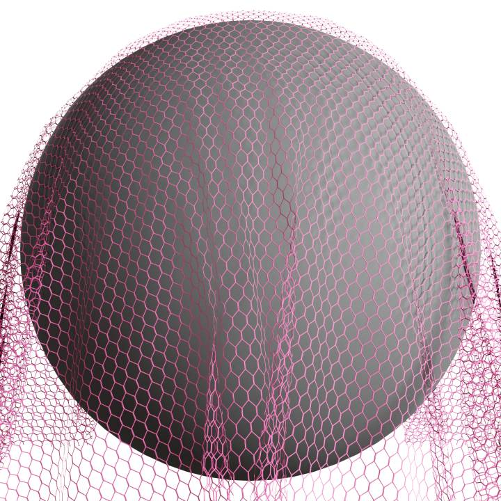 Preview render of the PBR texture Tulle 01 small
