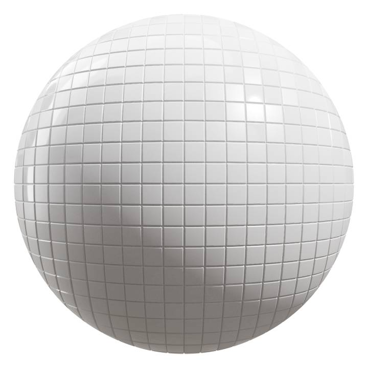 Preview render of the PBR texture White Tiles 03