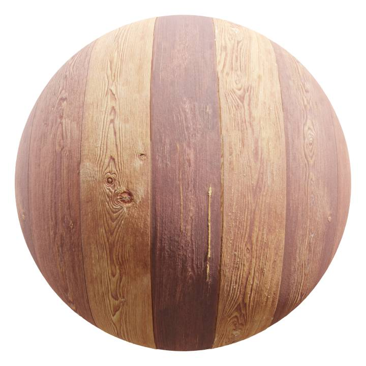 Preview render of the PBR texture Wooden Planks 04